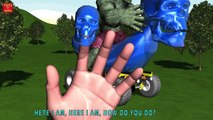 HULK RIDE MICKEY MOUSE BANANA CAR Finger Family & MORE | Nursery Rhymes In 3D Animation