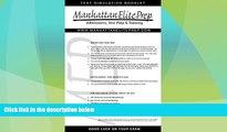 Best Price Manhattan Elite Prep Erasable GMAT Booklet with Pen (Manhattan Review) Manhattan Elite
