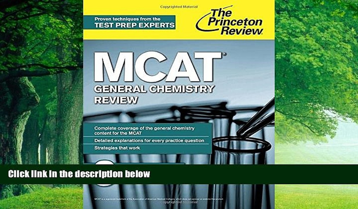 Online Princeton Review MCAT General Chemistry Review: New for MCAT 2015  (Graduate School Test