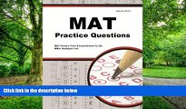 Pre Order MAT Practice Questions: MAT Practice Tests   Exam Review for the Miller Analogies Test