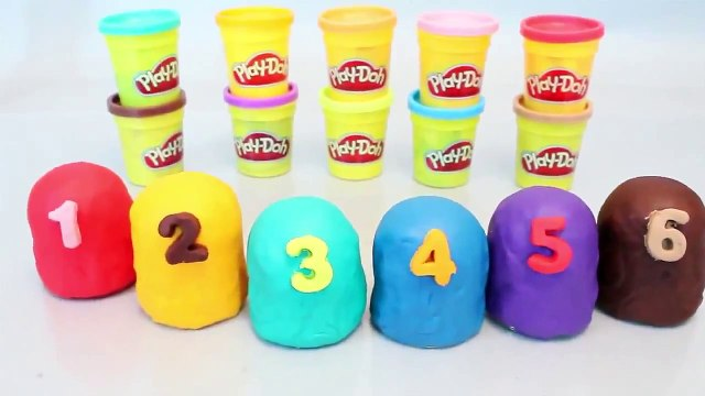 Mundial de Juguetes & Play Doh Surprise Eggs Number Playdough Toy