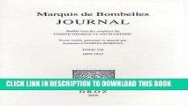 Best Seller Marquis de Bombelles, Journal: T. VII, 1808-1815 (Histoire Des Idees Et Critique