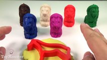 Play and Learn Colours with Play Doh Lions and Animals Molds Fun for Children