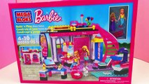 Mega Bloks Barbie Friseur- und Beauty-Salon Dreamhouse Unboxing MEGA BLOKS® Build n Play Glam Salon