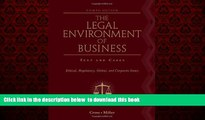 Audiobook The Legal Environment of Business: Text and Cases: Ethical, Regulatory, Global, and
