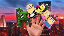 Funny Minions Finger Family RHymes For Children   Crazy Hulk Cartoon Finger Family Nursery Rhymes