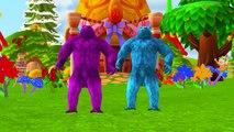 Crazy Gorilla Dinosaurs Banana Car   King Kong Vs Dinosaurs Movie   Gorilla Finger Family Rhymes