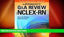 Best Price Lippincott Q A Review for NCLEX-RN (Lippioncott s Review for Nclex-Rn) Diane Billings