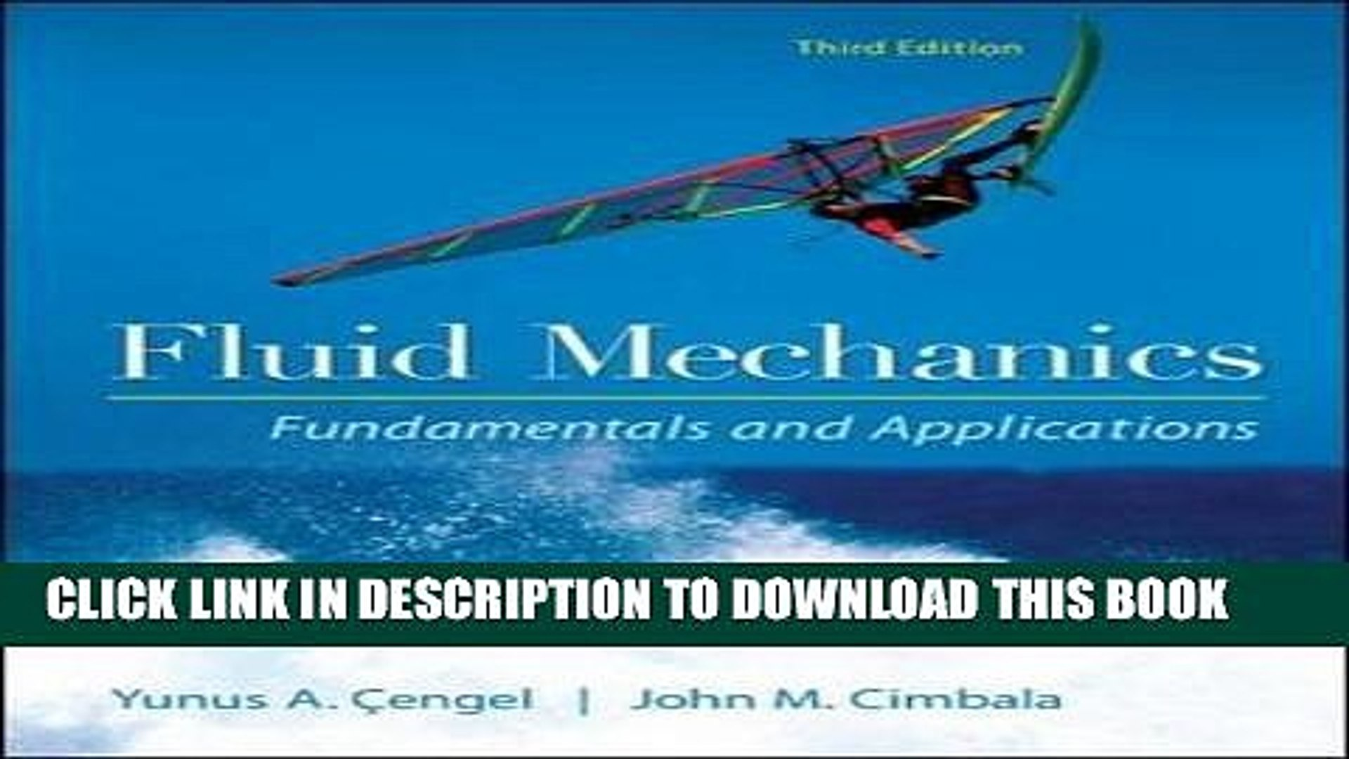 EPUB Fluid Mechanics Fundamentals and Applications PDF Ebook