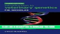 KINDLE Introduction to Veterinary Genetics PDF Ebook