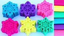 Sparkle Play Doh Frozen Snowflakes Play Doh Rainbow Modelling Clay Fun and Creative Kids Play