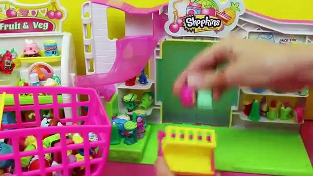 Frozen Kids Shopkins Playset Opening Shopping Cart NEW amp Shopkins Collection Felicia DisneyCarToys