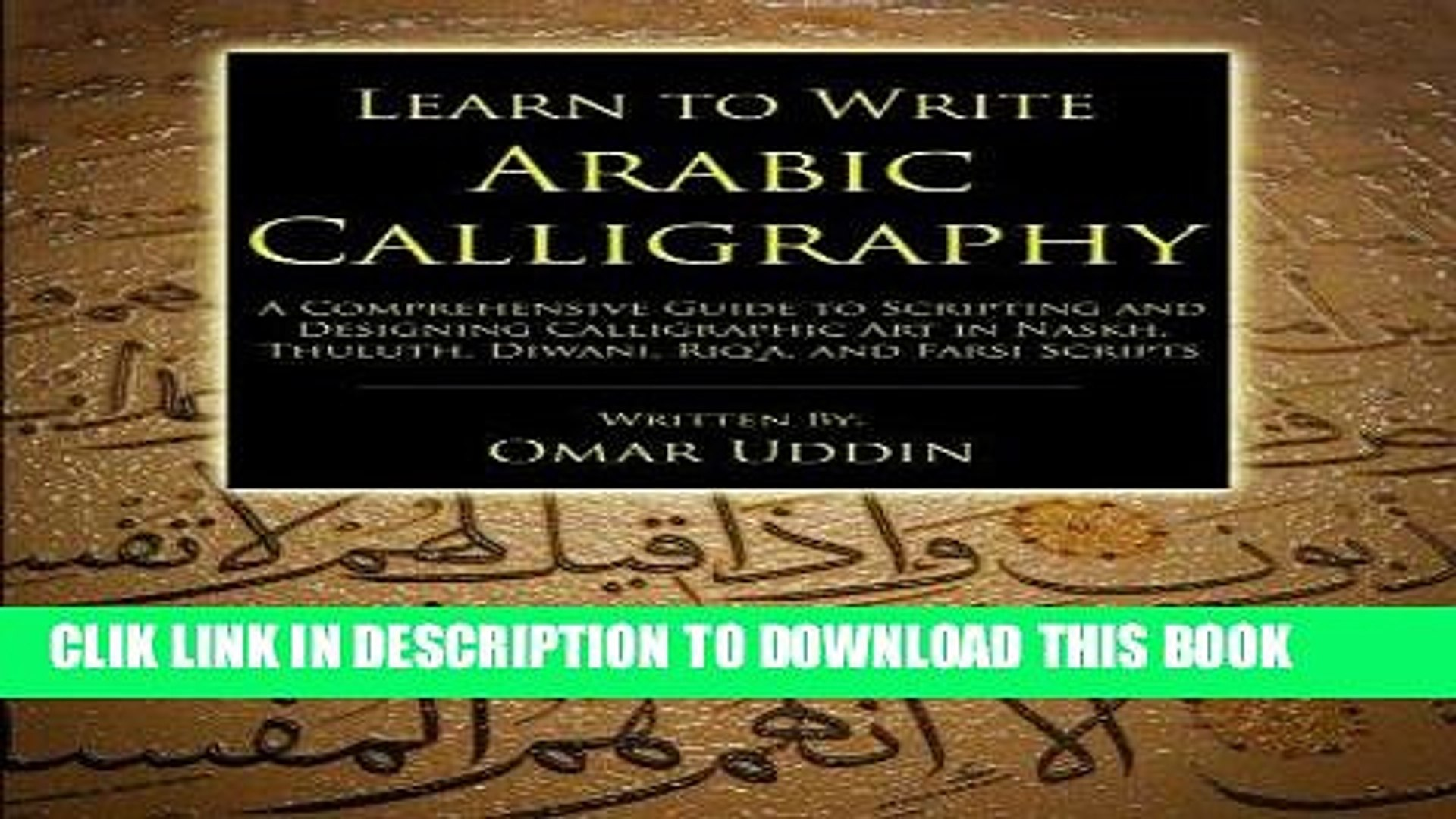 Ebook learn to write arabic calligraphy free download video.