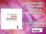 Émile Durkheim Soziologie - Ethnologie - Philosophie (Theorie und Gesellschaft)