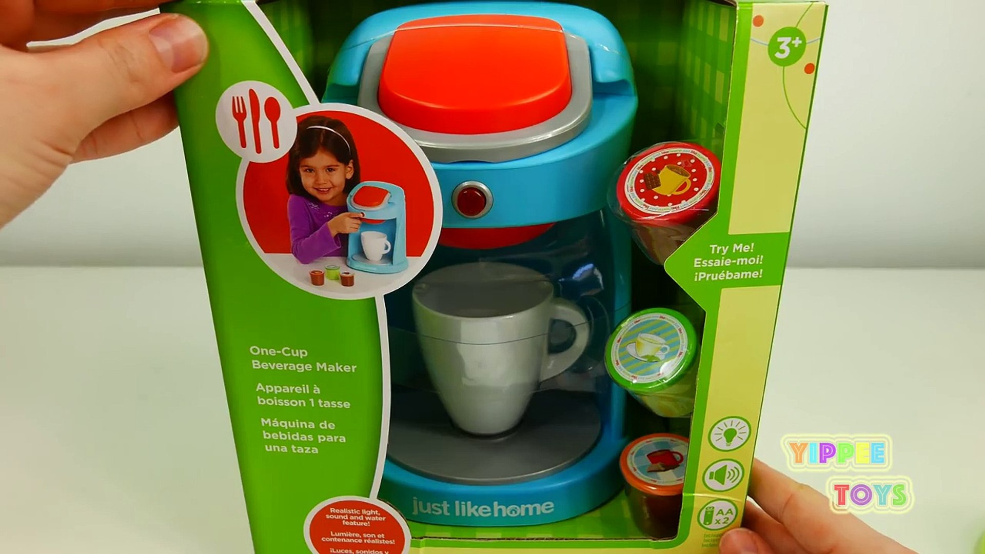 Kitchen Appliance Toys for Kids Coffee Maker Machine and Kettle Just Like  Home