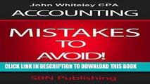 [FREE] Ebook Accounting | Top 20 Accounting Mistakes | Accounting Risks: Accounting Mistakes to