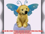 WL SS-WL-21601 Yellow Labrador Retriever With Fairy Wings Lighted Figurine Ornament