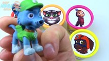 Сups Stacking Toys Play Doh Clay Talking Tom Paw Patrol Masha McQueen Learn Col