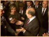 Inauguration de l'Institut du monde arabe (IMA) par le président François Mitterrand et les ambassadeurs des pays de la Ligue arabe