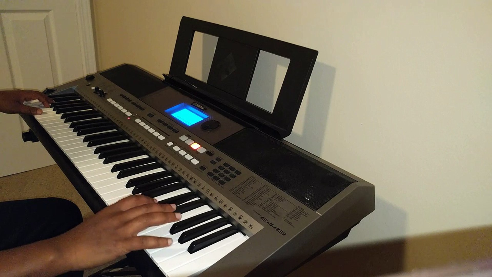 "Teddy Afro ""Ayne Hulgize"" Ethiopian keyboard training cover."