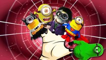Minions Cartoon Finger Family Nursery Rhymes SuperHero   Monster Trucks Hulk Finger Family Rhymes