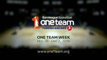 Basket - Euroligue (H) : L'Euroligue célèbre la semaine «One Team»