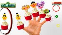 Sesame Street Finger Family Puppets Cupcake Rhyme Lyrics Ernie and Bert, Muppets Kermit Sesamstrasse