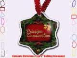 Christmas Ornament Merry Christmas in Latvian from Latvia - Neonblond