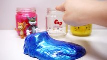Hello Kitty Clay Slime Cup Suprise Toys Peppa Pig Tom and Jerry Minions Hello Ki