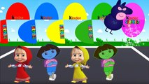 Dora Colors Surprise Eggs with Masha Colors   Colours for Kids to Learn