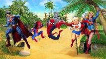 Finger Family Song - Daddy Finger Nursery Rhymes Spiderman-Super Man Finger Family Rhymes|