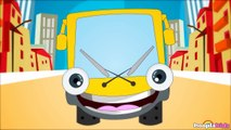 Wheels on the Bus Go Round and Round Nursery Rhyme with Lyrics - Sing Along Version
