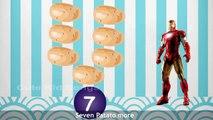 Iron Man One Potato Two Potato   Nursery Rhymes With Lyrics   3D Animation Rhymes For Children