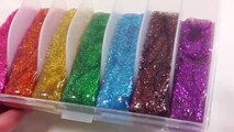 Learn Colors DIY How To Make Foam Clay Glitter Rainbow Slime Toys YouTube
