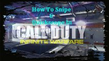 how to snipe or quickscope in call of duty infinite warfare tutorial walkthrough