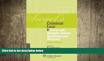 READ book  Siegel s Criminal Law: Essay and Multiple-Choice Questions and Answers, Fifth Edition