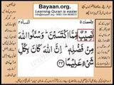 Quran in urdu Surah AL Nissa 004 Ayat 032B Learn Quran translation in Urdu Easy Quran Learning