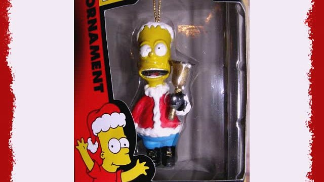 Simpsons Bart Simpson Ringing Bell in Santa Suit Christmas Ornament 2002