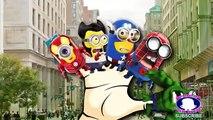Minions superheros Dinosaur batman finger Family   123 song ABC alphabets Rhymes
