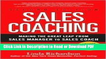 Read Sales Coaching: Making the Great Leap from Sales Manager to Sales Coach [Hardcover] Free Books
