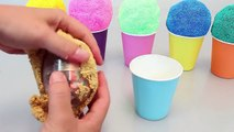Surprise Eggs Ice Cream Colors Glitter Play Doh Orbeez Disney Cars, Tayo the Little Bus, Thomas Toys
