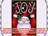 Toland - Santa Joy - Decorative Double Sided Winter Christmas Holiday Jolly USA-Produced Garden