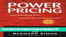 15422d52957c5 PDF] Power Pricing: How Managing Price Transforms the Bottom Line ...