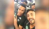Brazilian team Chapecoense at airport before plane crash in Colombia – video