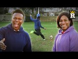 KSI coaches Maggie?! Rugby Kicking Challenge!   Rule'm Sports