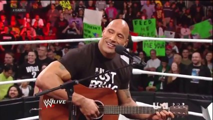 The Rock sings to Vickie Guerrero (WWE RAW 2013)