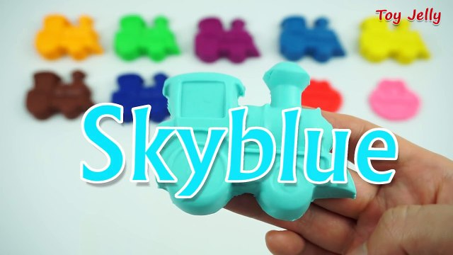 Learning Colours with Play Doh Train and Sesame Street Angry Birds Cookie Cutters Fun & Creative