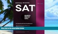 Pre Order SAT Critical Reading Workbook (Advanced Practice Series) (Volume 4) Khalid Khashoggi