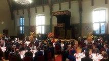 Discours du roi Philippe à La Haye devant le Premier ministre Mark Rutte et les souverains néerlandais