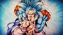 Drawing Gogeta Super Saiyan Blue 4 | kameHameHa-